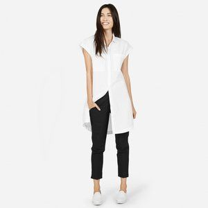 Everlane Short Sleeve Shirt Dress White
